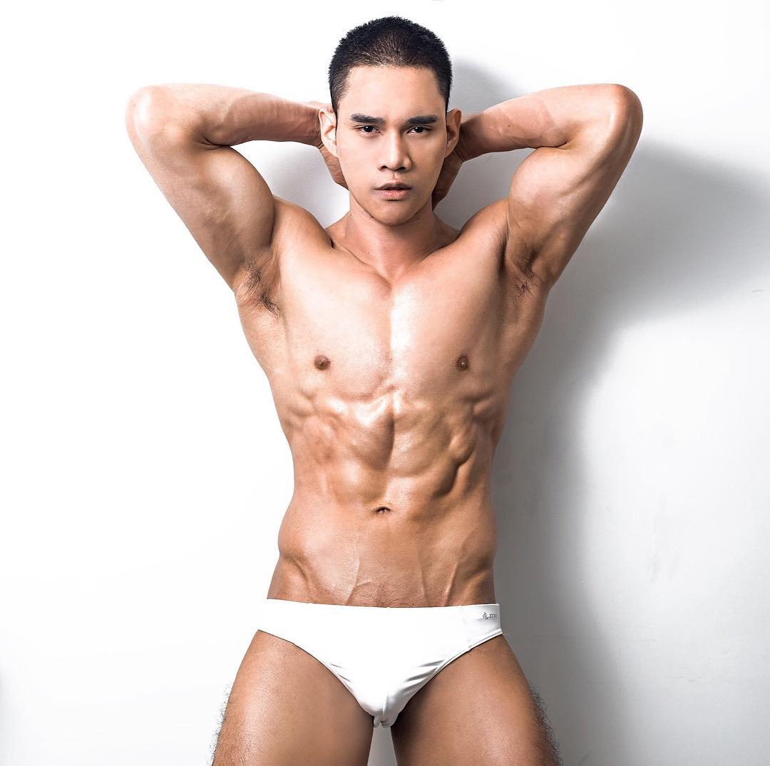 Alex Hot Muscles Guy White Party Advice Gay Bangkok Thailand