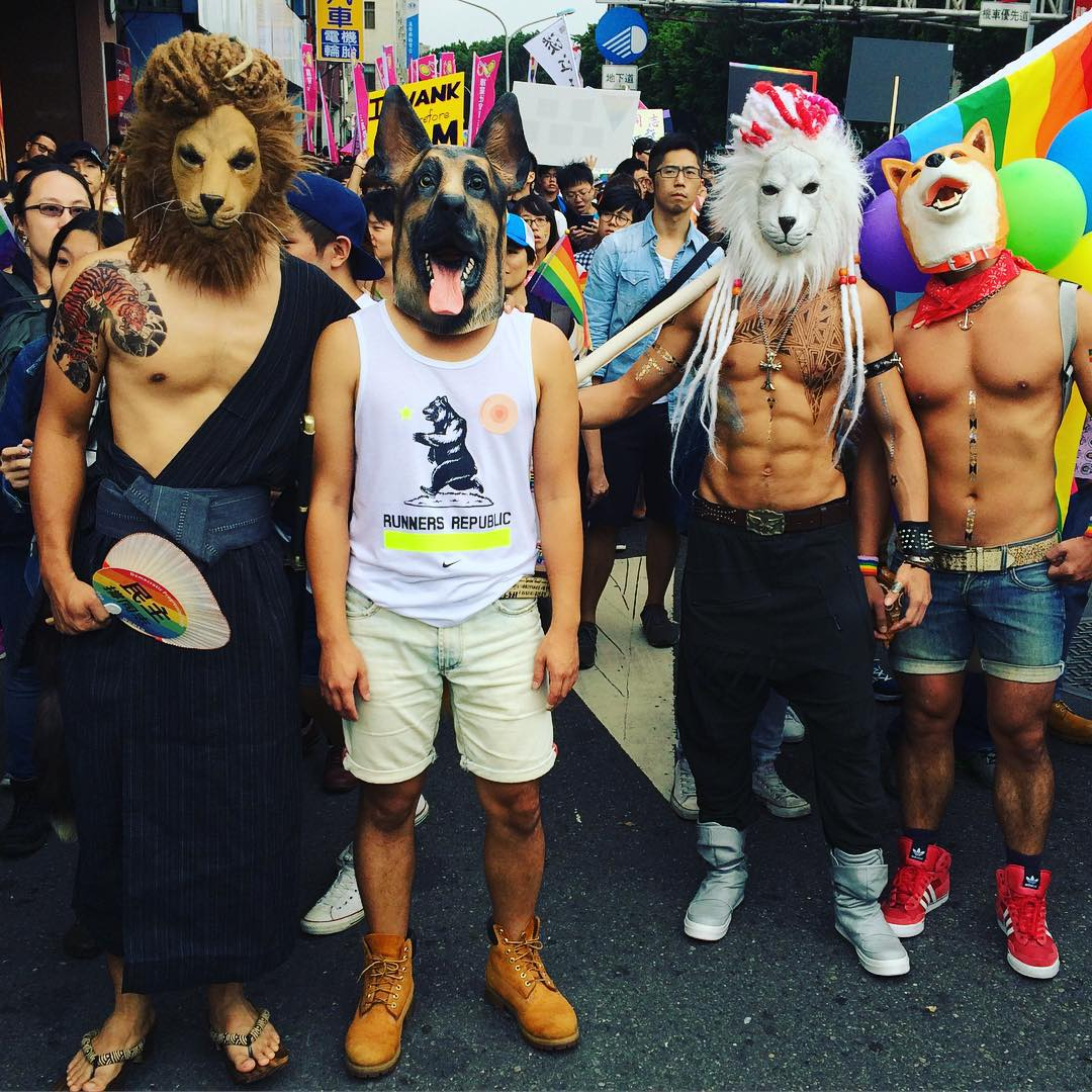 Animal in the crowd of Gay Party Taipei