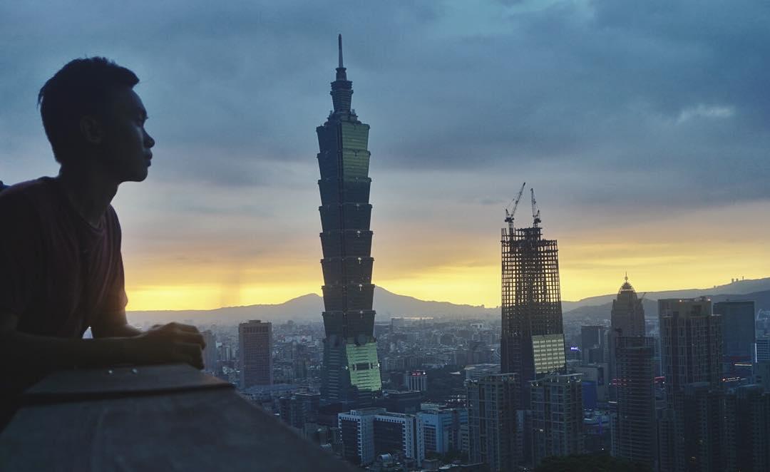 Iconic Taipei 101 at Night during Taipei Gay Pride