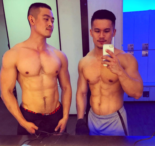 Nono and Elvin Hottest Mirror Selfie Gay Couple on Instagram