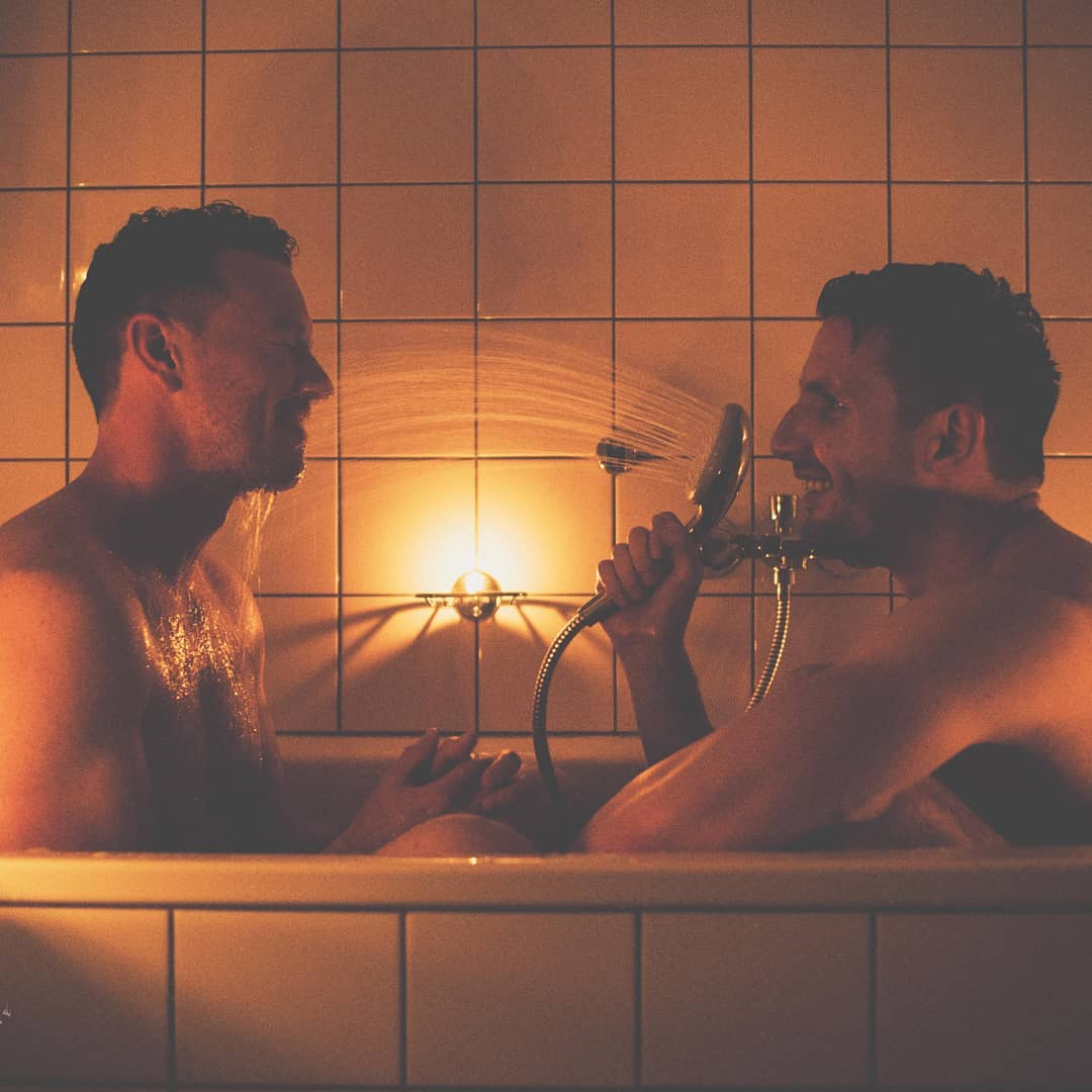 Gay Dutch couple on valentine's day
